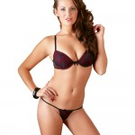 Cottelli Red and Black Lace Bra Set