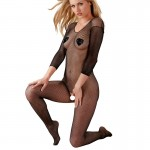 Cottelli Collection Black Net Catsuit