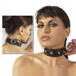 Leather Collar With Stud Detail