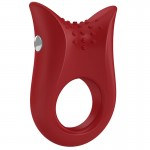 Ovo B2 Vibrating Red Cockring