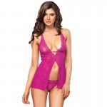 Leg Avenue Halter Babydoll And GString UK 8 to 14