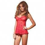 Coquette Red Stretch Lace Babydoll UK 14 to 16