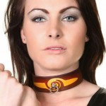 House Of Eros Brown And Orange Swirl Collar