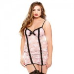 Fantasy Curve Underwire Chemise And Matching Thong