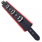 Rouge Garments Black And Red Padded Collar