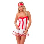 Red And White Dress Nurse Outfit